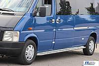 Volkswagen LT сталь Навесные пороги для микроавтобусов Premium d60 длинная база