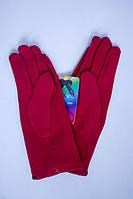 Красные женские зимние перчатки