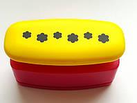 Фигурный дырокол (компостер) Бордюрный для края Цветочки-шестилистники