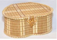 Набор шкатулок из бамбука сердце 4 шт 821-5