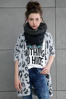 Модная вязанная кофта для девочки, фото 1
