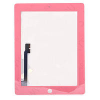 Сенсорная панель для APPLE iPad 3 розовая в комплекте с рамкой и кнопкой HOME Н/С