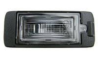Фонарь подсветки (корпус подсветки) заднего номерного знака (с лампочкой и с патроном) GM 1224037 1224006 2098026 13590043 13578958 13575641 OPEL