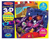 "3-D наклейки с очками ""Приключения""/ Easy-to-See 3-D Reusable Sticker Pad - Adventure ТМ Melissa & Doug MD9375"