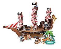 """3D пазлы """"Пиратский корабль"""" (Pirate Ship 3D Puzzle) больше 100 деталей ТМ Melissa & Doug MD9045"""