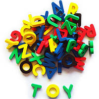 """Алфавит английский на магнитах россыпью для детей от 3 лет (48 букв) ТМ """"Бомик"""" 209"""