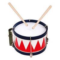 Барабан с палочками. Детский деревянный музыкальный инструмент. (ТМ Bino 86583)
