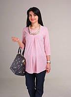 Блуза для беременных Жемчужина розовая (с ожерельем) р. 44-52 ТМ NowaTy 16010301