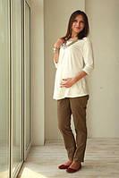 Блуза для беременных Жемчужина шампань (с ожерельем) р. 44-50 ТМ NowaTy 15020301