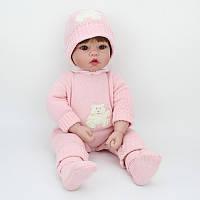 Уютная кукла Бренда, реборн, 55см, мягконабивная, в подарочной упаковке