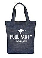 Коттоновая сумка POOLPARTY Kangaroo Sydney Denim Tote