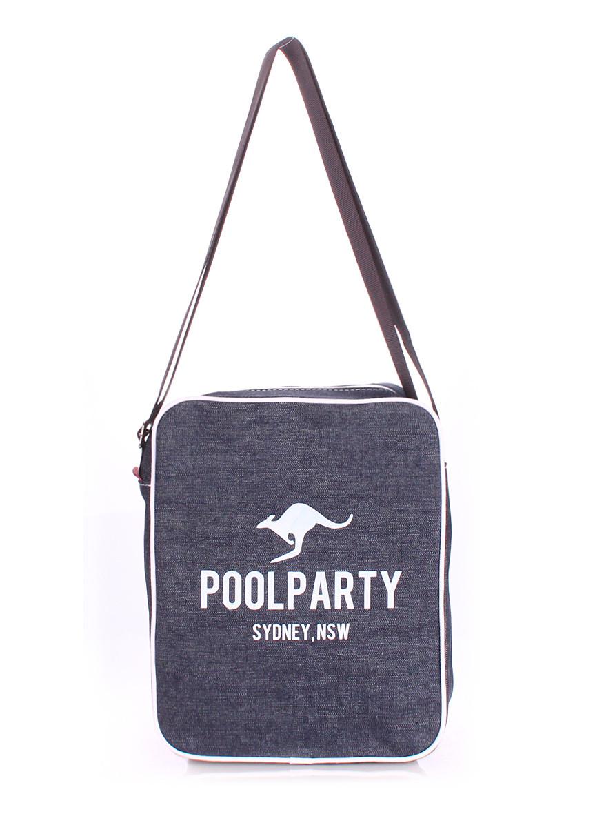 Мужская джинсовая сумка POOLPARTY с ремнем SAFARY CROSSBODY BAG
