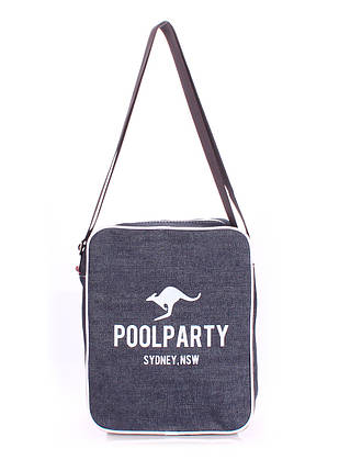 Мужская джинсовая сумка POOLPARTY с ремнем SAFARY CROSSBODY BAG, фото 2