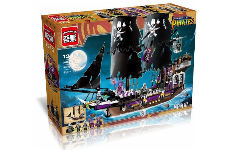 Конструктор Brick 1313 Legendary Pirates Огромный корабль скелетов 1535 дет
