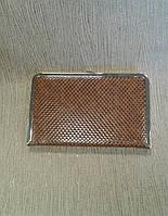 Женский клатч коричневый с тиснением(Турция)