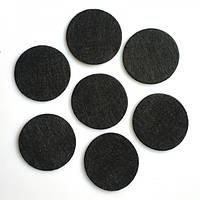 Фетровая заготовка  круг 4 см,цвет черный,  10 шт.
