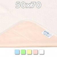 Двухсторонняя непромокаемая пеленка Premium TENCEL® /трикотаж  50х70 см ТМ ЭКО ПУПС пел-5070цтр