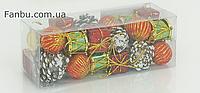 Набор новогоднего декора Микс №3 (1 набор -24 шт)