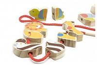 Деревянная игрушка Бусы Сафари (5 деталей) для детей от 1 года ТМ Lucy&Leo LL135