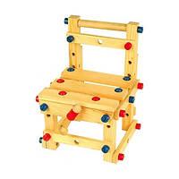 """Деревянная игрушка Стульчик-конструктор маленький ТМ """"Игрушки из дерева"""" Д053"""