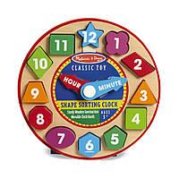 Деревянная игрушка часы-сортировщик NEW (Shape Sorting Clock) ТМ Melissa & Doug MD18593