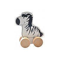 """Деревянная игрушка-каталка """"Зебра"""" для детей от 1 года ТМ """"Игрушки из дерева"""" Д298"""