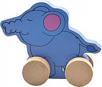 """Деревянная игрушка-каталка """"Слон"""" для детей от 1 года ТМ """"Игрушки из дерева"""" Д300"""