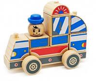 """Деревянная развивающая игрушка Автомобиль-конструктор №1 для детей от 1 года ТМ """"Игрушки из дерева"""" Д059"""