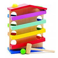 """Деревянная развивающая игрушка Горка """"Домик"""" для детей от 1 года ТМ """"Игрушки из дерева"""" Д016"""