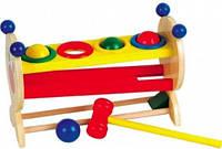 """Деревянная развивающая игрушка Горка-шарики маленькая для детей от 1 года ТМ """"Игрушки из дерева"""" Д003"""
