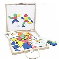 Деревянная развивающая игрушка Коробка с фигурами (58 деталей) для детей от 2 лет ТМ Lucy&Leo LL132