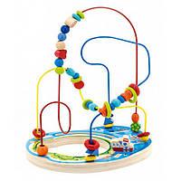 """Деревянная развивающая игрушка лабиринт """"Морские приключения"""" для детей от 1 года ТМ """"Игрушки из дерева"""" Д382"""