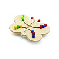 """Деревянная развивающая игрушка лабиринт-шарики """"Бабочка"""" для детей от 1 года ТМ """"Игрушки из дерева"""" Д370"""