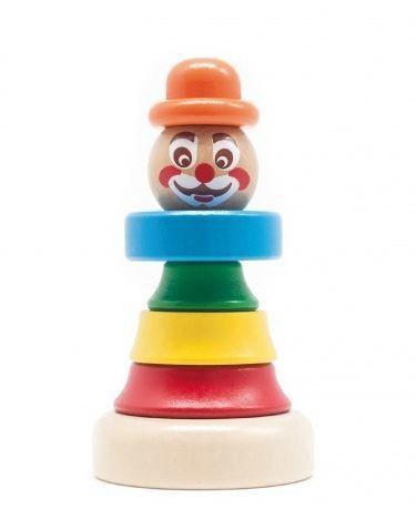 """Деревянная пирамидка """"Клоун 1"""" для детей от 1 года ТМ """"Бомик"""" 813"""