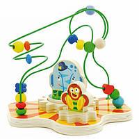 """Деревянная развивающая игрушка Сортер-лабиринт """"Цирк"""" для детей от 1 года ТМ """"Игрушки из дерева"""" Д381"""