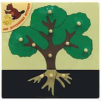 """Деревянная рамка-вкладыш """"Дерево"""" для детей от 1 года ТМ """"Игрушки из дерева"""" Р 86"""