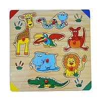 """Деревянная рамка-вкладыш """"Саванна"""" для детей от 1 года ТМ """"Игрушки из дерева"""" Р125"""