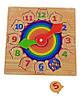 """Дерев'яна рамка-вкладиш годинник """"Веселка"""" для дітей від 2 років ТМ """"Іграшки з дерева"""" Р 01, фото 2"""