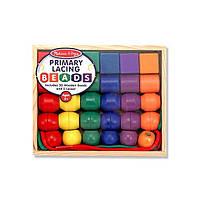 Деревянная шнуровка начального уровня (Primary Lacing Beads) ТМ Melissa & Doug MD10544