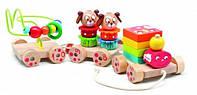 Деревянный игровой набор Паровозик для детей от 1 года ТМ Lucy&Leo LL141