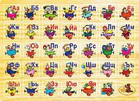 """Деревянный красочный развивающий Алфавит для детей от 1 года ТМ """"Игрушки из дерева"""" Р 64"""