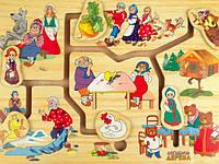 """Деревянный лабиринт """"Мир сказки 1"""" для детей от 1 года ТМ """"Игрушки из дерева"""" Р 59"""