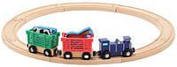 """Деревянный набор """"Поезд с животными"""" (Farm Animal Train Set) 13 деталей ТМ Melissa & Doug MD10644"""