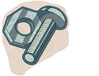 Полотенце с петелькой Болт и гайка (40*70 для рук), фото 1