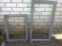 ✅ Рамка чугунная малая на две плиты 2-х секционная (размер - 750 х 590 мм)