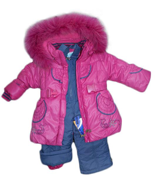 Теплый зимний комбинезон для девочки KIKO