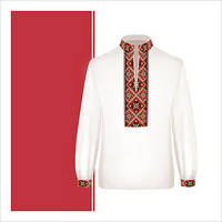 Заготовка сорочки-вышиванки для мальчика (размер 36-44)