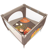 Детский игровой манеж Baby Design Play Up 09 brown (с кольцами)