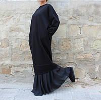 Платье черное  макси свободный силуэт
