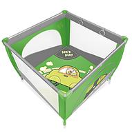 Детский игровой манеж  Baby Design Play Up 04 green (с кольцами)